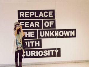 Motivational wallpaper on Curiosity: Replace Fear