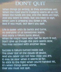 Motivational Wallpaper on Don't Quit