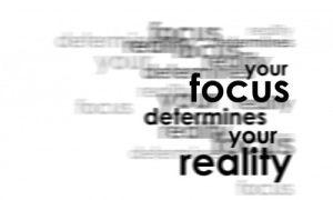 Motivational Wallpaper on Focus: Your Focus determines