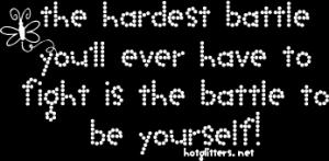 Motivational Wallpaper on The hardest Battle