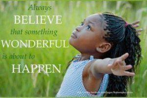 Motivational Wallpaper on Believe