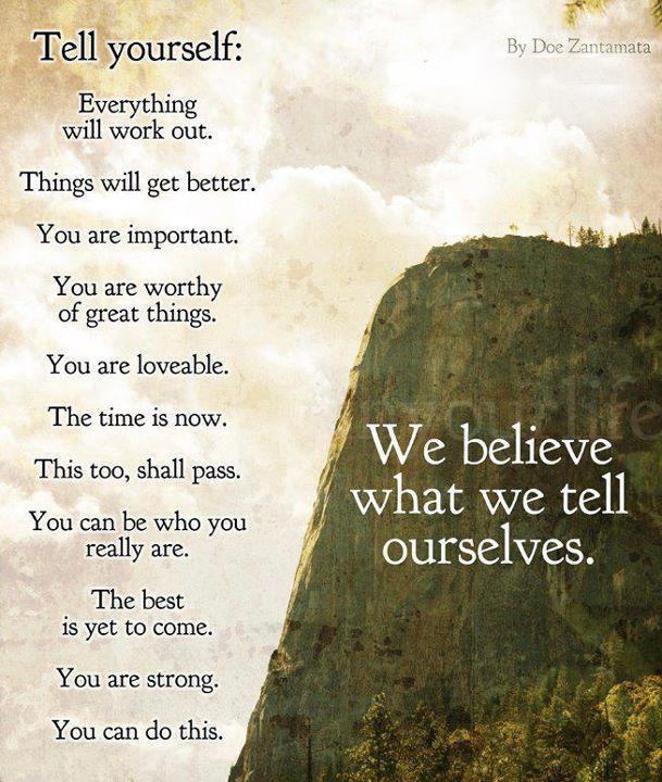 Motivational Poem : Tell yourself by Doe Zantamata | Dont ...