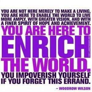 You Impovrrish Yourself