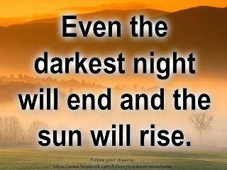 Quote on the darkest night