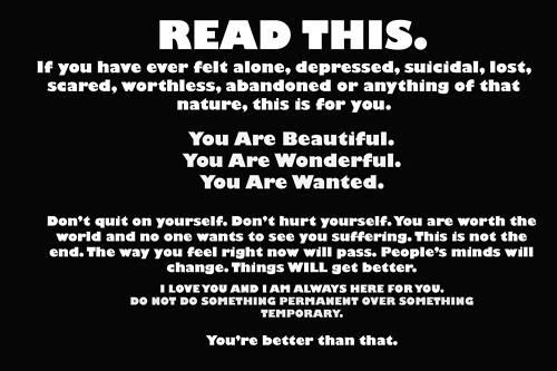 Motivational Wallpaper on Depressed: if you have ever felt alone depressed