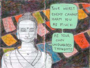 Wallpaper on your worst enemy by Gautam Buddha