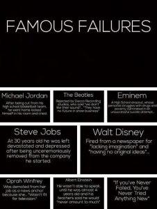 Motivational Wallpaper on Famous Failures