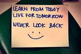 Motivational Wallpaper on Never Look Back