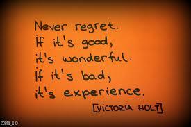 Motivational Wallpaper on Never Regret