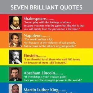 Motivational Wallpaper on Seven Legends, Seven Quotes