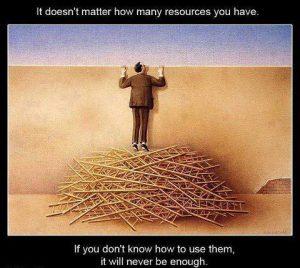 Quote on resource utilization