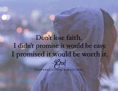 Motivational wallpaper on Faith : Don't Lose Faith