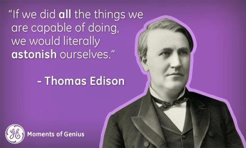 Motivational Wallpapers on capabilty by Thomas Alva Edison