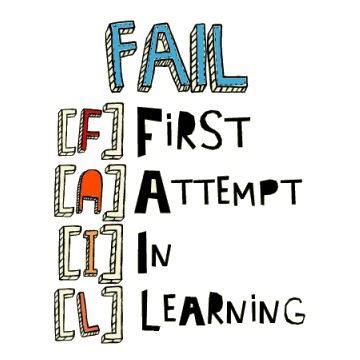 Motivational Wallpaper on Failure: FAIL F: First A: Attempt