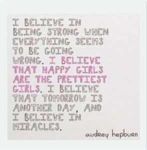 Motivational Quote by Audrey Hepburn