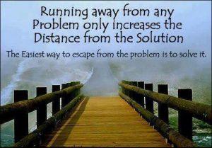 Motivational Wallpaper Running away from problems