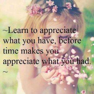 Quote Learn to appreciate