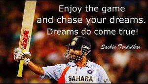 Quote on dreams by Sachin Tendulkar