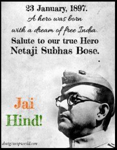 true Indian freedom fighter  Netaji Subhas Chandra Bose