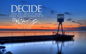Motivational Wallpaper on Decide
