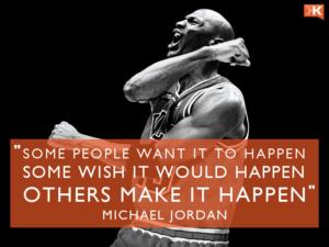 Wallaper Make it Happen by Michael Jordan