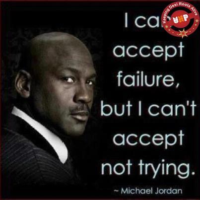Michael Jordan Inspirational Wallpaper on Failure: I can accept failure