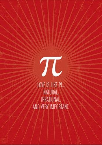 Motivational Wallpaper on Pi : Love is like PI...