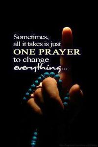 Motivational wallpaper on the power of prayer