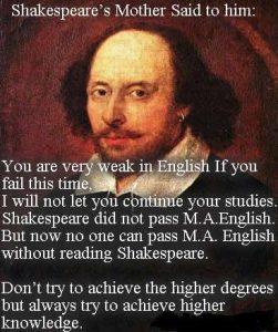 Inspirational story of Shakespeare