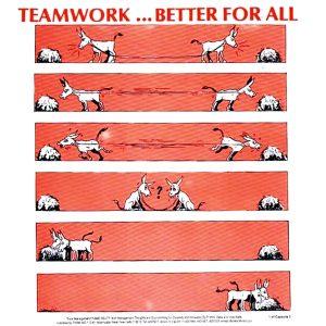 Motivational wallpaper on the importance of teamwork