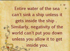 Negativity Wallpaper: Only Negativity inside you can harm