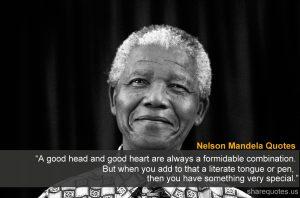 Motivational Wallpaper on Nelson Mandela