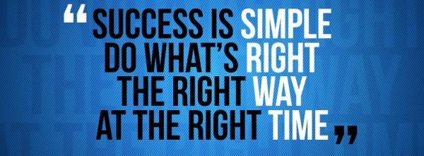 Motivational Timeline Cover on Success