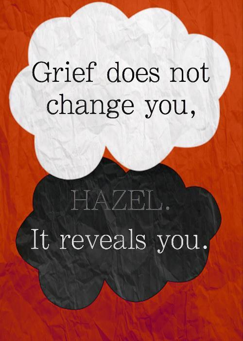 Motivational Wallpaper on Change: Grief does not change you,Hazel.