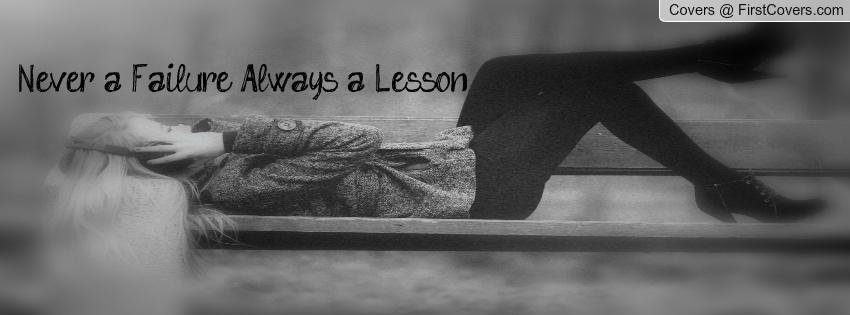 Motivational Timeline Cover on Failure: Never a Failure Always a Lesson