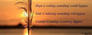 Motivational cover timeline on Hope