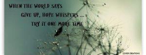Inspirational cover timeline on Hope