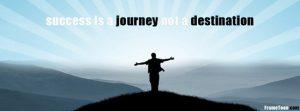 Motivational timeline cover on success- success is a journey not a destination