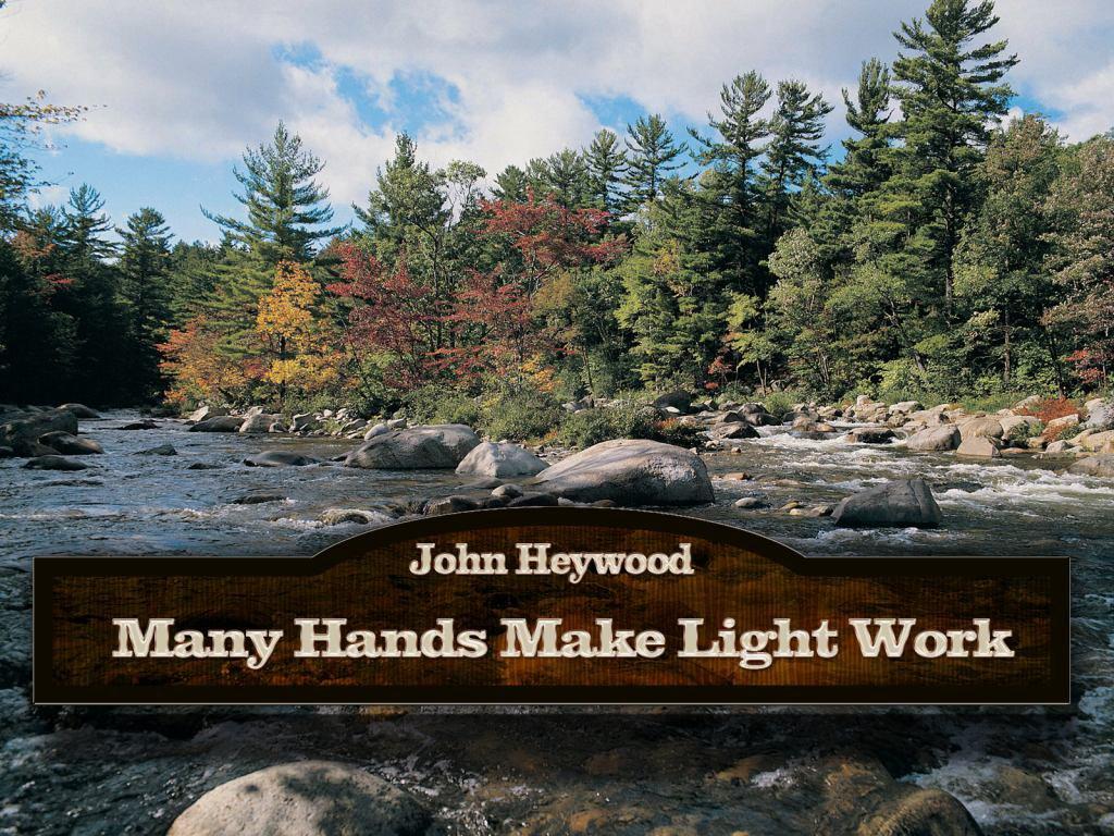 Motivational Wallpaper on Unity: Many hands make light work