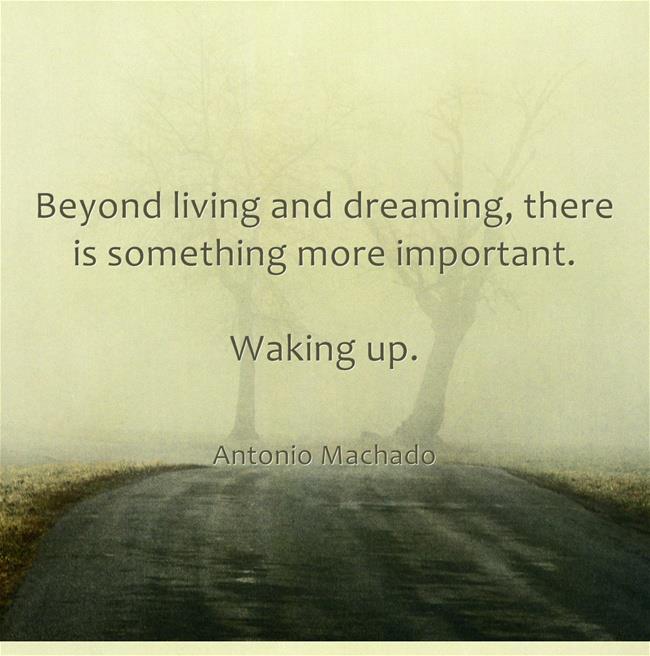 Wallpaper with Quote on Dreams By Antonio Machado