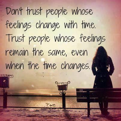 Motivational Wallpaper on Trust: Don't trust people whose feeling
