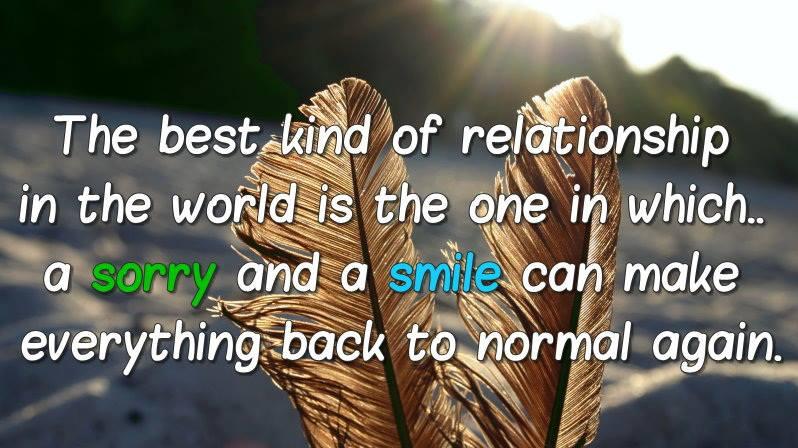 Motivational Wallpaper on Relationship: The best kind of relationship