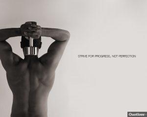 Motivational Wallpaper on : Strive for progress not perfection