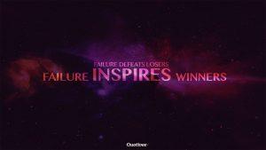 Motivational Wallpaper on FAilure: Failure defeats losers failure inspir