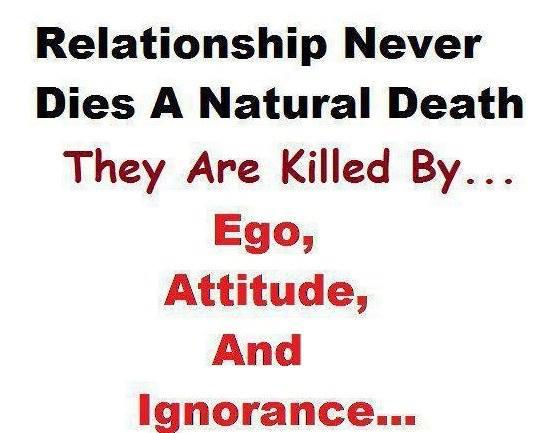 Introspective Wallpaper on Relationships: Relationship never Dies A natural Death