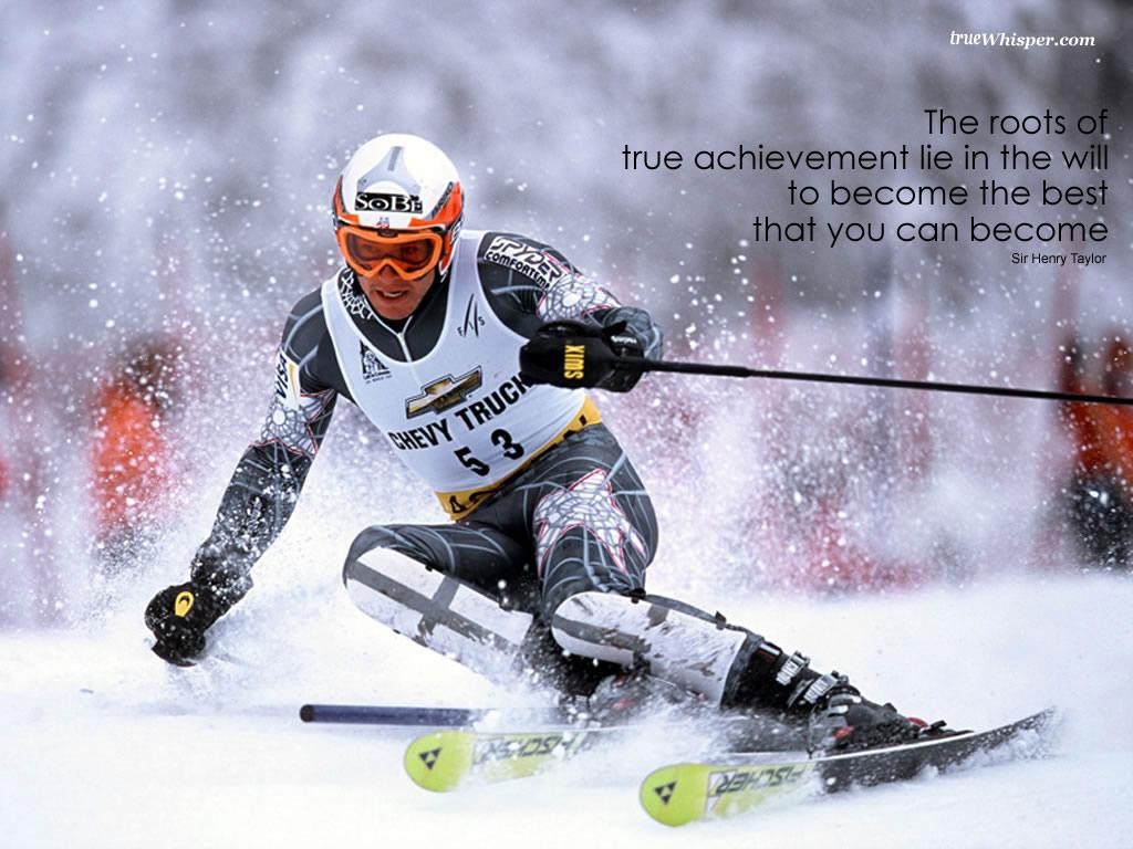 Inspirational Wallpaper on Achievement: The roots of true achievement lie