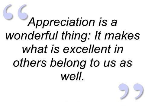 Motivational Wallpaper on Humility and Appreciation: Appreciation