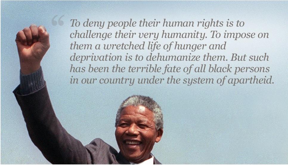 Nelson Mandela Quote on Humanity