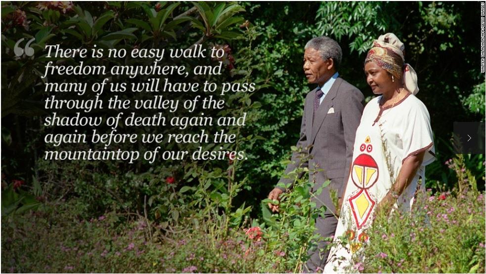 Nelson Mandela Motivational Wallpaper on Freedom