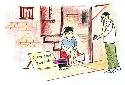 Inspiring story on attitude The Blind boy